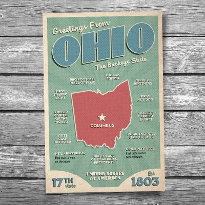 Greetings from Ohio Postcard