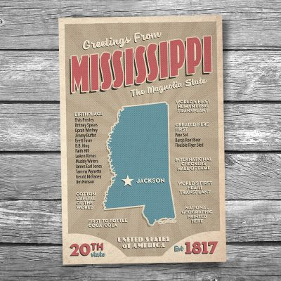 Greetings from Mississippi Postcard