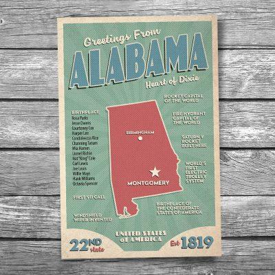 Greetings from Alabama Postcard