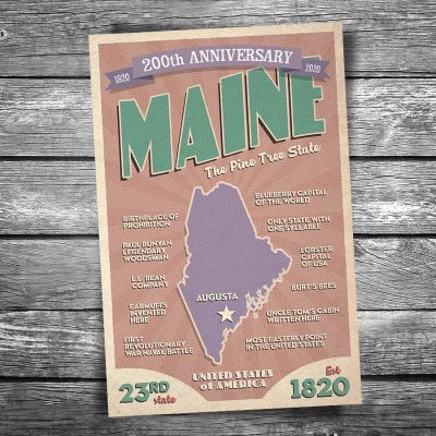 Greetings from Maine 200th Anniversary Postcard