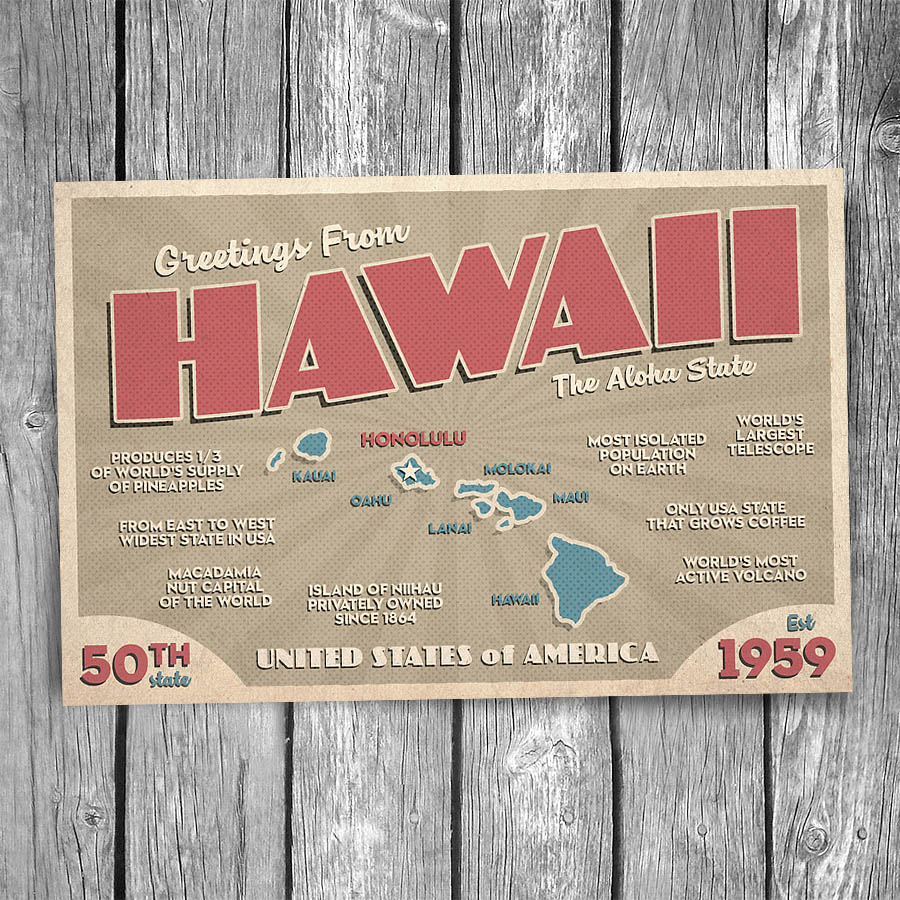 Greetings From Hawaii Postcard Christopher Arndt Postcard Co