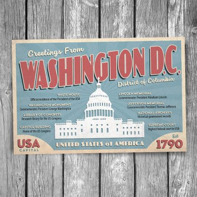 Greetings from Washington DC Postcard