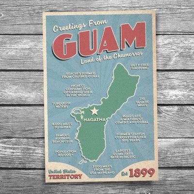 Greetings from Guam Postcard