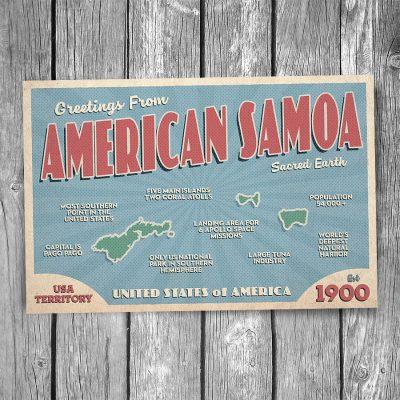 Greetings from American Samoa Postcard