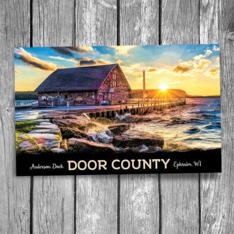 205-Anderson-Dock-Door-County-Postcard