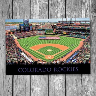 Colorado Rockies Coors Field Ballpark Postcard