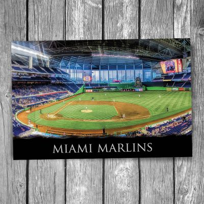 Miami Marlins at Marlins Park Postcard