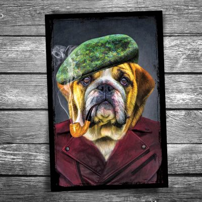 Boss Dog Postcard