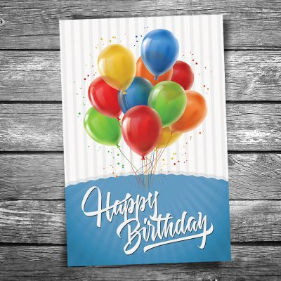 Happy Birthday Balloons Postcard
