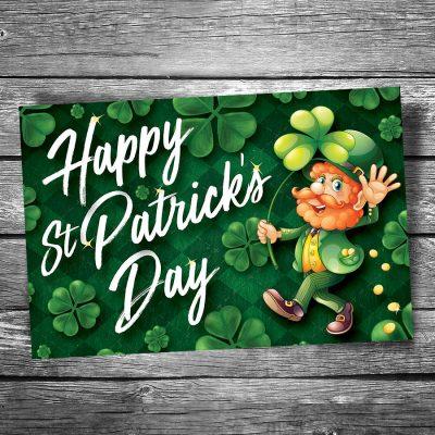 St. Patrick's Day Leprechaun Postcard