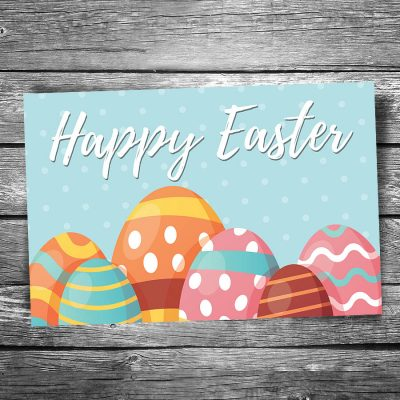 Happy Easter Egg Postcard