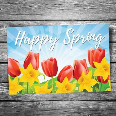 Happy Spring Postcard