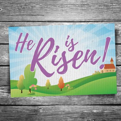 He is Risen Easter Postcard