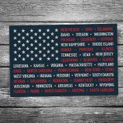 USA State Flag Postcard