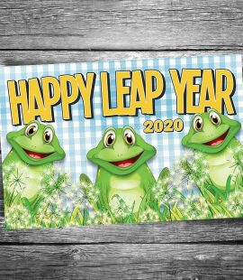 Happy Leap Year 2020 Postcard