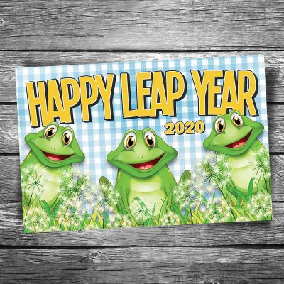 Happy Leap Year 2020 Postcard