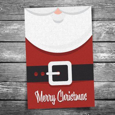 Santa Claus Suit Christmas Postcard