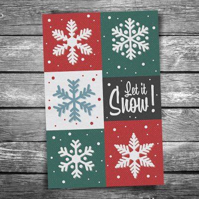 Snowflakes Christmas Postcard