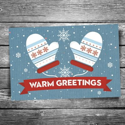 Warm Christmas Greetings Postcard