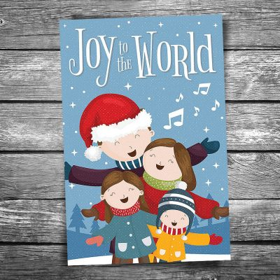 Joy to the World Christmas Postcard