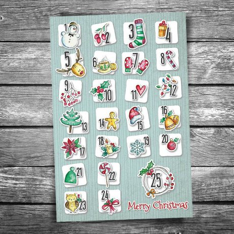 Christmas Advent Calendar Postcard