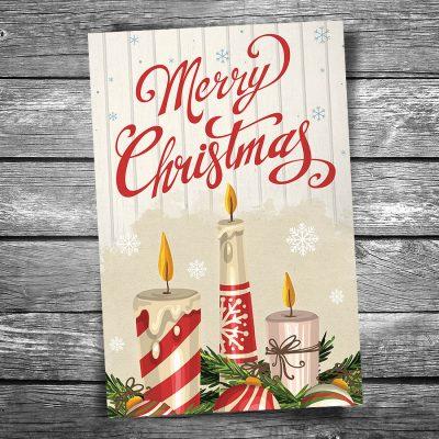 Christmas Candles Postcard