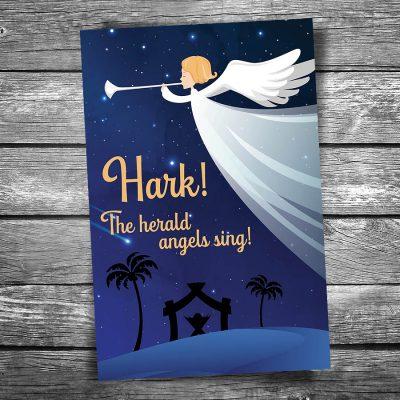 Christmas Hark the Herald Postcard