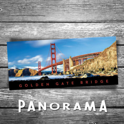 Golden Gate Bridge Panorama Postcard