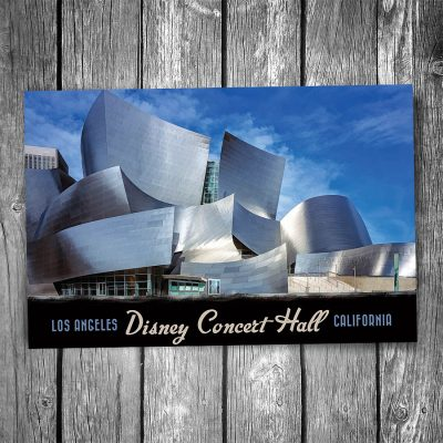 Disney Concert Hall Postcard
