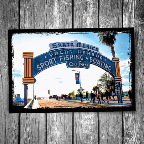 Santa Monica Pier Sign Postcard