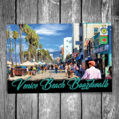 Venice Beach Boardwalk Postcard