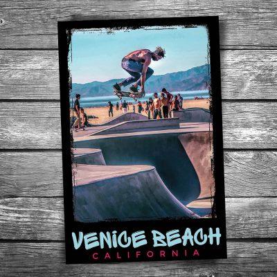 Venice Beach Skateboarder Postcard