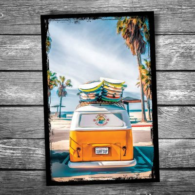 VW Surfer Van Postcard