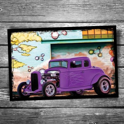 Model A Hotrod Postcard