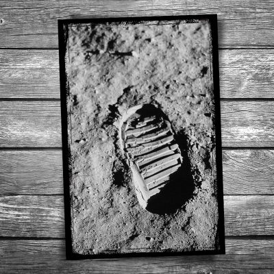 Moon Bootprint Postcard