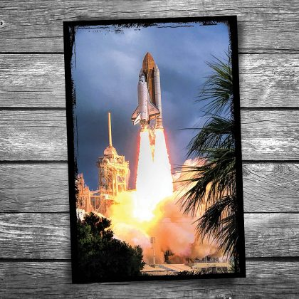 Space Shuttle Liftoff Postcard