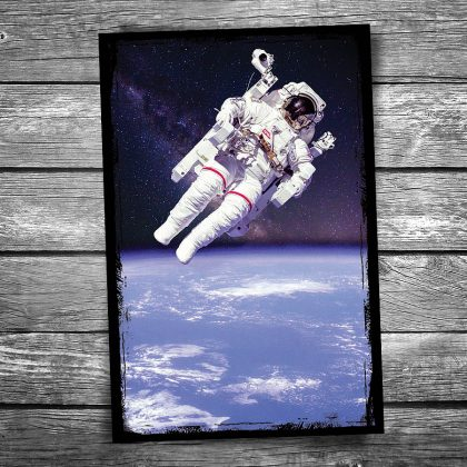 Astronaut Spacewalk Postcard