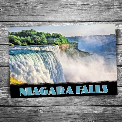 Niagara Falls Sunset Postcard