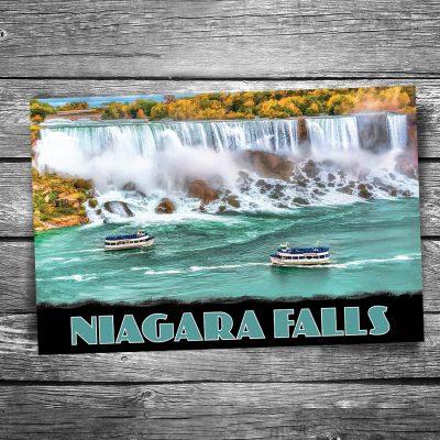Niagara Falls Boats Postcard