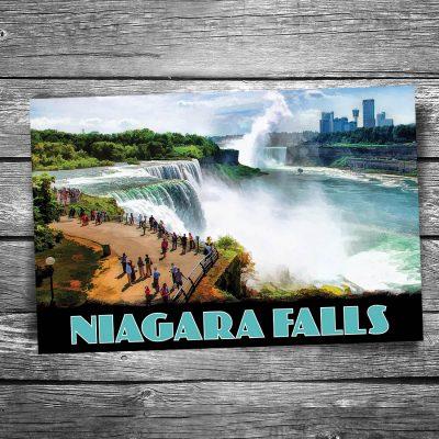 Niagara Falls Overlook Postcard