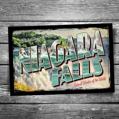 Greetings From Niagara Falls Postcard
