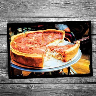 Deep Dish Pizza Postcard