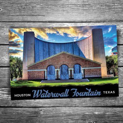 Houston Water Wall Postcard