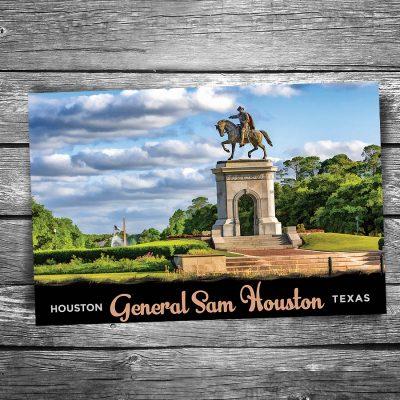 Sam Houston Monument Postcard