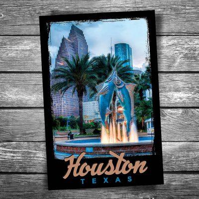 Houston Aquarium Postcard