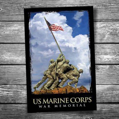 Marine Corps Memorial Postcard