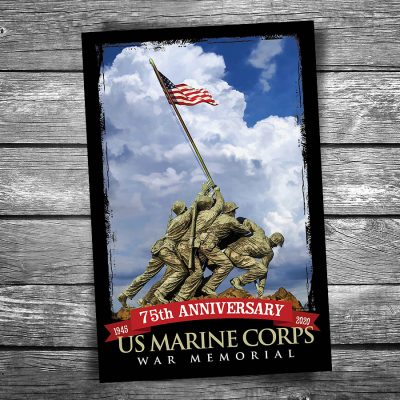 Marine Corps Memorial 75th Anniversary Postcard