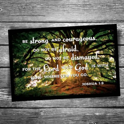 Be Strong and Courageous Postcard