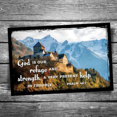 God is Our Refuge Postcard