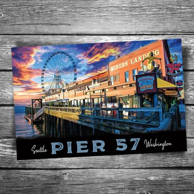 Seattle Pier 57 Postcard